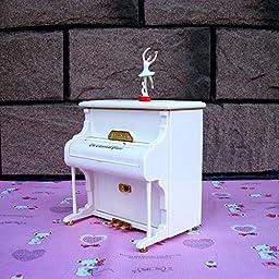 YONG Piano music box ballerina spin girls music box