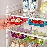 Bluelover-Multipurpose-Frigo-stockage-coulissante-rfrigrateur-tiroir-Organisateur-Space-Saver-plateau-Violet