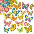 Lot de 102 Autocollants Papillons en Mousse- Id�al pour les activit�s scrapbooking
