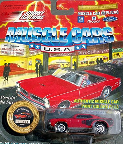 johnny lightning muscle cars RED 1971 hemi cuda series 6 1996