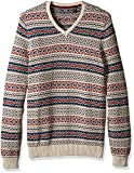 IZOD Mens Big and Tall Fairisle 1/4 Zip Sweater