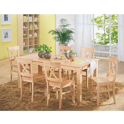 SET Bergheim Buche massiv Tisch Stuhle Pharao24