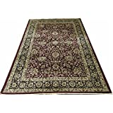 HIGH QUALITY SILK A RAHMAN CARPET THE MOST PREFER PARSIAN DESIGNE COLOR MAROON BLACK SIZE  4 x 6  available at Amazon for Rs.5439