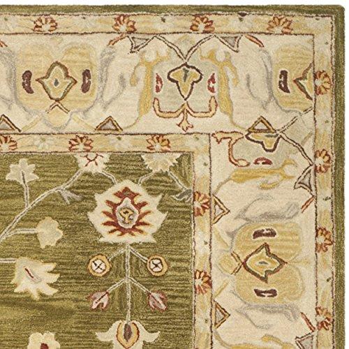 Safavieh Anatolia Collection AN562D Handmade Moss and Ivory Wool Area Rug, 8 feet by 10 feet (8' x 10')