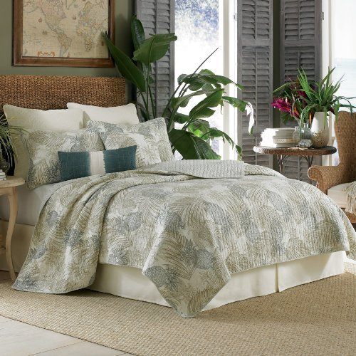 Tommy Bahama Pineapple Paradise Full / Queen Quilt Aqua / Multi front-825682