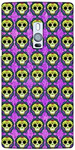 Snoogg Skull Purple Pattern Solid Snap On - Back Cover All Around Protection ...