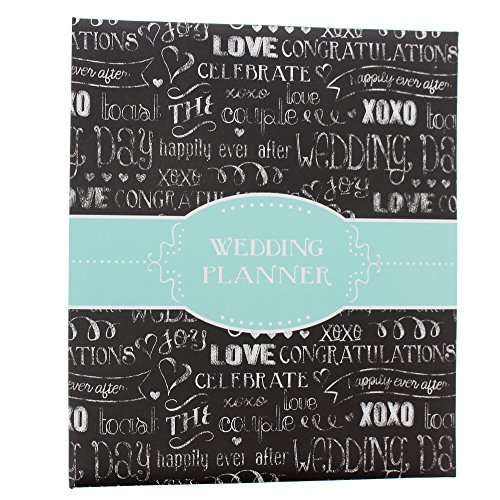 Pepper Pot Black Chalkboard Love Wedding Planner Binder
