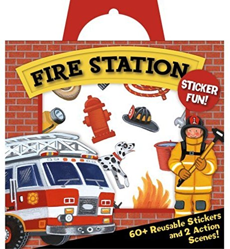 Peaceable Kingdom Sticker Fun! Fire Station Reusable Sticker Tote