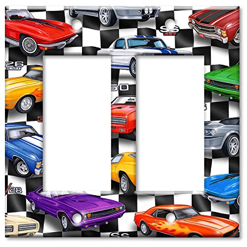 Art Plates - Muscle Cars Switch Plate - Double Rocker (Rocker Light Plate Car compare prices)