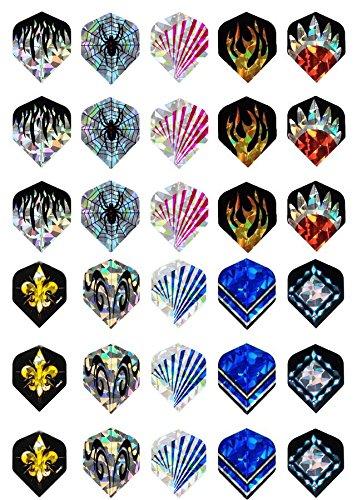 [10 sets(30 pcs) of 2D Dart Flights Nice Laser Reflective Darts Flight C] (C Viper Costumes)