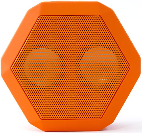 Boombotix Boombot Rex Wireless Ultraportable Weatherproof Bluetooth Speaker For Ipods Smartphones Tablets And Laptops - Orange (Newest Version)