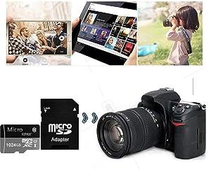 Micro SD Card 1TB High Speed Class 10 Micro SD SDXC Card with Adapter (1TB) (Tamaño: 1TB)