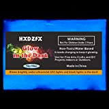HXDZFX Glow in The Dark Pigment Powder 2 Pack 0.53oz UV Powder Safe Non-Toxic for Slime,Nails,Epoxy Resin,Acrylic Paint,Halloween,Fine Art and DIY Crafts (Sky-Blue) (Color: Sky-Blue)