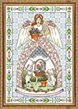 "Tobin 14 Count Kitty Angel Counted Cross Stitch Kit, 14"" by 20"""