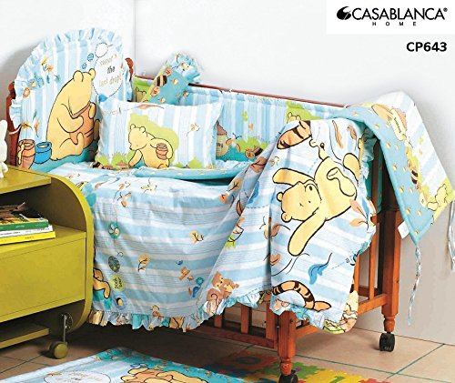 Disney Classic Winnie The Pooh Cp643 Baby Crib 12Pcs Bedding Set (330 Threads / 10Cm Squared) 100% Cotton front-177085