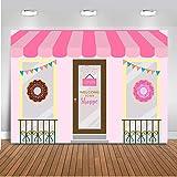 Mehofoto Donut Shoppe Backdrop Donut Cake Table Birthday Photography Background 7x5ft Vinyl Bonut up Baby Shower Party Banner Backdrops (Color: P-Donut Shoppe)