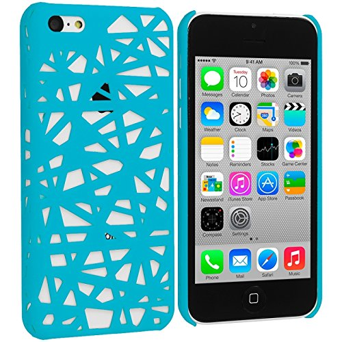 Cell Accessories For Less (Tm) Baby Blue Birds Nest Hard Rubberized Back Cover Case For Apple Iphone 5C - By Thetargetbuys front-981264