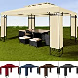 Pavillon 3x4m Gartenpavillon Festzelt Paryzelt Gartenzelt Eventpavillon Anthrazit