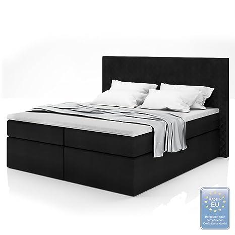 Canapé de muelles cama doble de diseño cama tapizada Cama hotel incl. Colchón 180x200