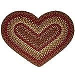 IHF Home Decor Cinnamon Heart Jute Braided Rug 20 x 30 Inch