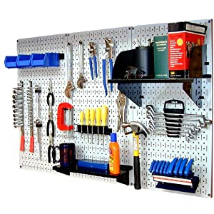 Click to buy Garage Pegboard: Wall Control 30-WRK-400WB Standard Workbench Metal Pegboard Tool Organizer from Amazon!
