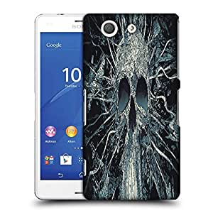 Snoogg Black Skull Designer Protective Phone Back Case Cover For SONY XPERIA Z3 COMPACT