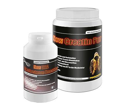 Creatin Pur 500g+DAA Testosteron Booster 90g! Kreatin Monohydrat ATP zuckerfrei Testosteron fettfreie Muskelmasse mehr Kraft und Ausdauer
