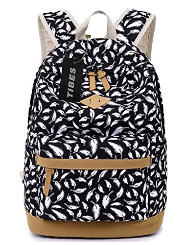tibes-fashion-printed-canvas-backpack-for-women-black