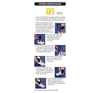 Active Ankle T2 Ankle Brace, Rigid Ankle Stabilizer for Protection & Sprain Support for Volleyball, Cheerleading, Ankle Braces to Wear Over Compression Socks or Sleeves for Stability, Black (Color: Black, Tamaño: Medium)