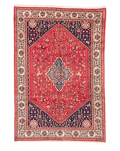 eCarpet Gallery One-of-a-Kind Hand-Knotted Abadeh Rug, Red, 6' 7 x 9' 8