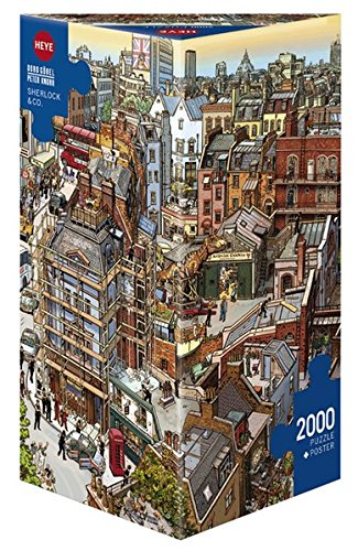 Heye Sherlock & Co 2000 Piece Jigsaw Puzzle (British Flag Puzzle compare prices)