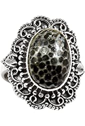 Xtremegems Stingray Coral 925 Sterling Silver Ring Jewelry Size 5 662R