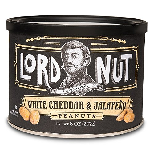 Lord Nut Levington Peanuts, White Cheddar & Jalapeno, 8-Ounce (Pack of 6) (Corn Nuts Cheddar compare prices)