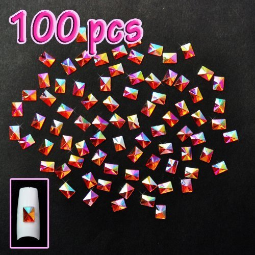 100pcs-rectangulo-piramide-deco-rojo-aurora-borealis-codigo-485r