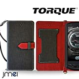 TORQUE G02 ケース JMEIオリジナルカルネケース VESTA ブラック au エーユートルク スマホ カバー スマホケース 手帳型 ショルダー スリム スマートフォン