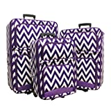 Luggage 3pc Chevron Pp