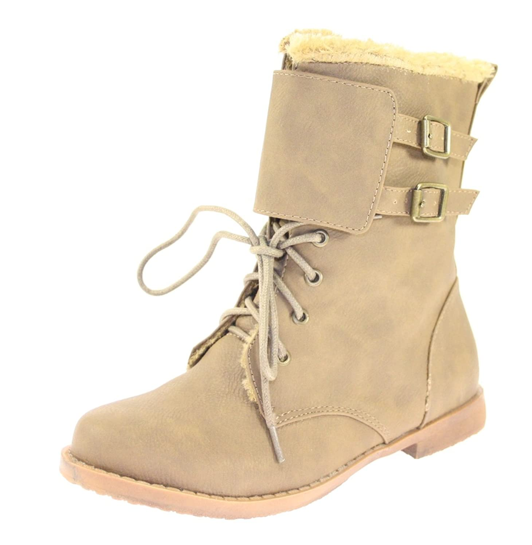 Boots / Stiefeletten Mädchen Farbe Khaki gefüttert kaufen