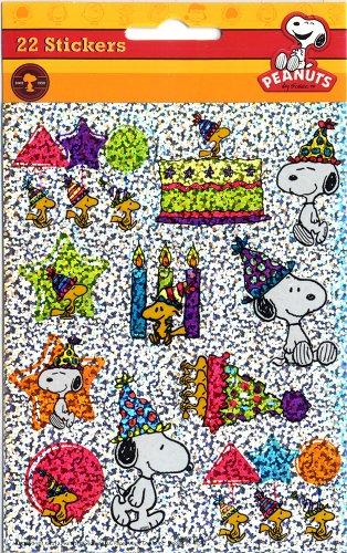 Eureka Peanuts Celebrate Stickers, Sparkle (623365) - 1