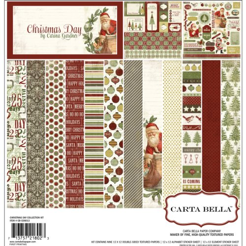 Carta Bella Paper Christmas Day Scrapbook Kit