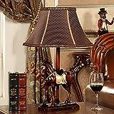 HH European Style Desk Lamp Bedroom Bedside Creative Living Room Study House Decoration Horse Lamp