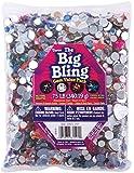 Darice Big Bling Stars and Round Gem Value Pack Rhinestones, Multicolor