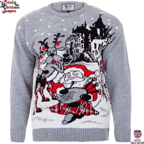 Christmas In Scotland - Mens Christmas Sweater By British Christmas Jumpers (Xxl)
