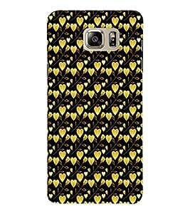 EPICCASE golden leaves of heart Mobile Back Case Cover For Samsung Note 6 (Designer Case)