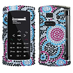 Sanyo Incognito 6760 Circle Wave Full Diamond Rhinestone Snap on Shield Case