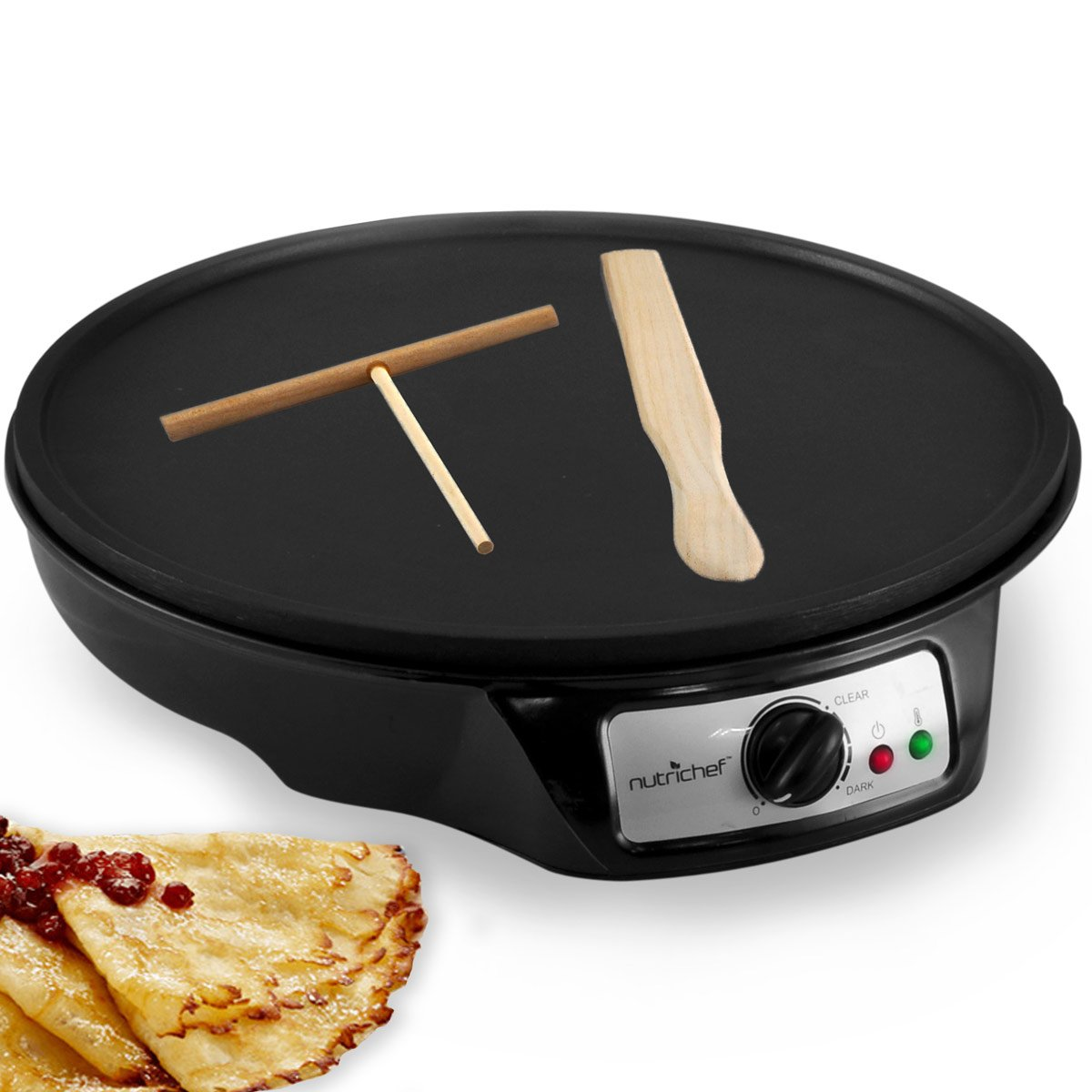 Nutri-Chef Electric Crepe Make Griddle