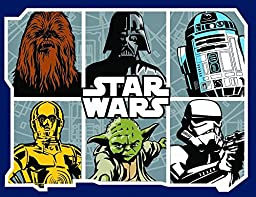 Star Wars Rug - Featuring Chewbacca, Darth Vader, R2-D2, C-3PO, Yoda, and a Stormtrooper 40 x 52