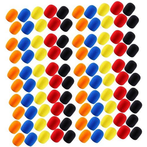 20Sets Of 5Pcs Different Color Long Term Microphone Windscreen Sponge Foam Cover Shield Protection