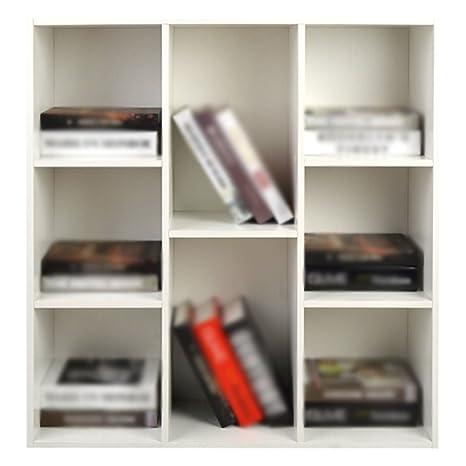 DFHHG® Libreria, scatola di immagazzinaggio della griglia multistrato di legno bianco della libreria durable