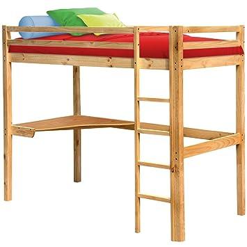 hochbett mit schreibtisch und leiter jugendbett singlebett. Black Bedroom Furniture Sets. Home Design Ideas