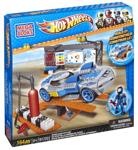 Mega Bloks 91722 - Hot Wheels Pit Stop Switch Out, Konstruktionsspielzeug